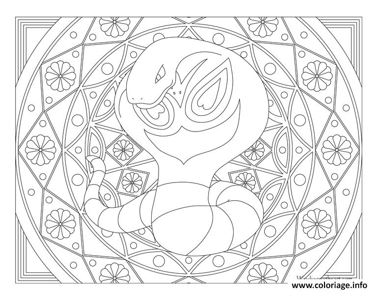 Coloriage Mandala Pokemon à Imprimer