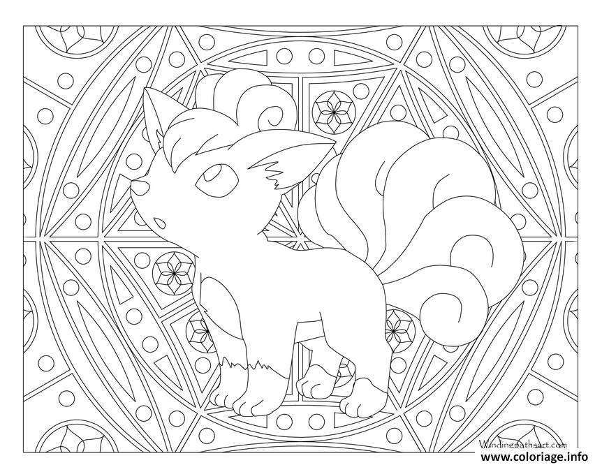 Coloriage Adulte Pokemon Mandala Vulpix Jecolorie Com