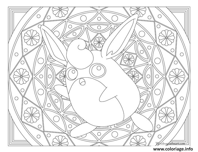 Dessin Adulte Pokemon Mandala Wigglytuff Coloriage Gratuit à Imprimer