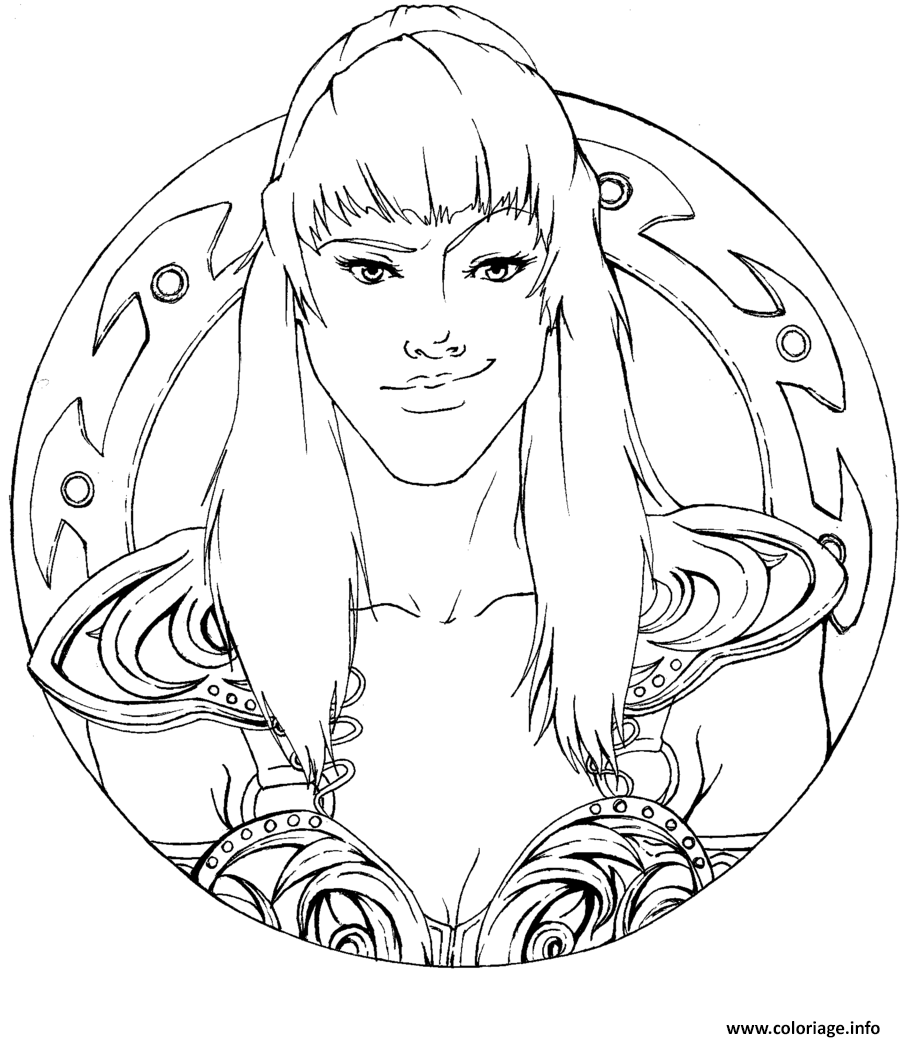 Coloriage xena la super heroine Xena coloring book