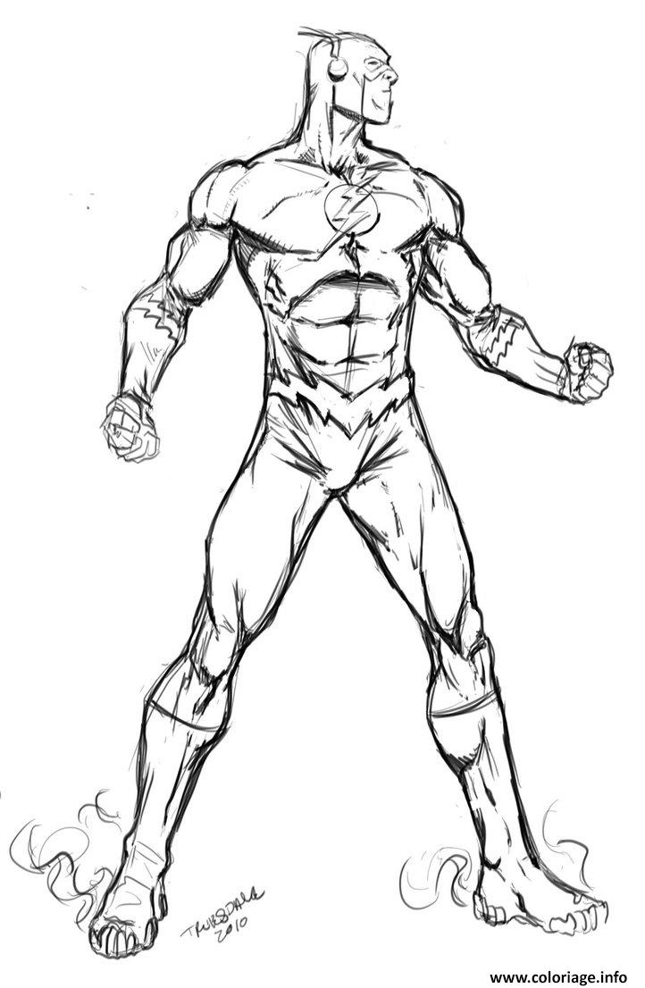 Coloriage Flash Super Heros Dessin Amateur 2 Dessin à Imprimer