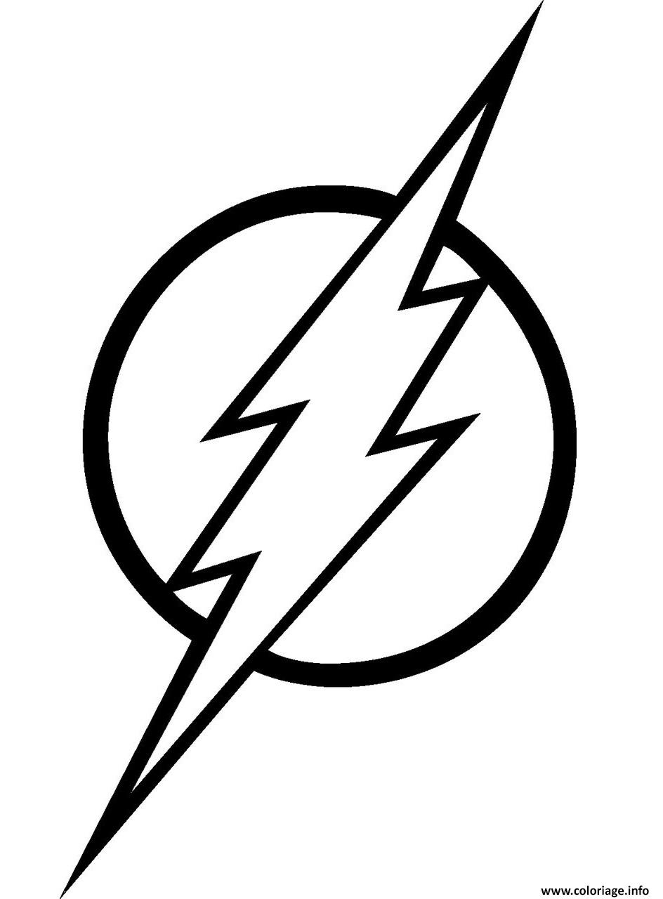 Coloriage flash super heros logo dessin - Super hero dessin ...