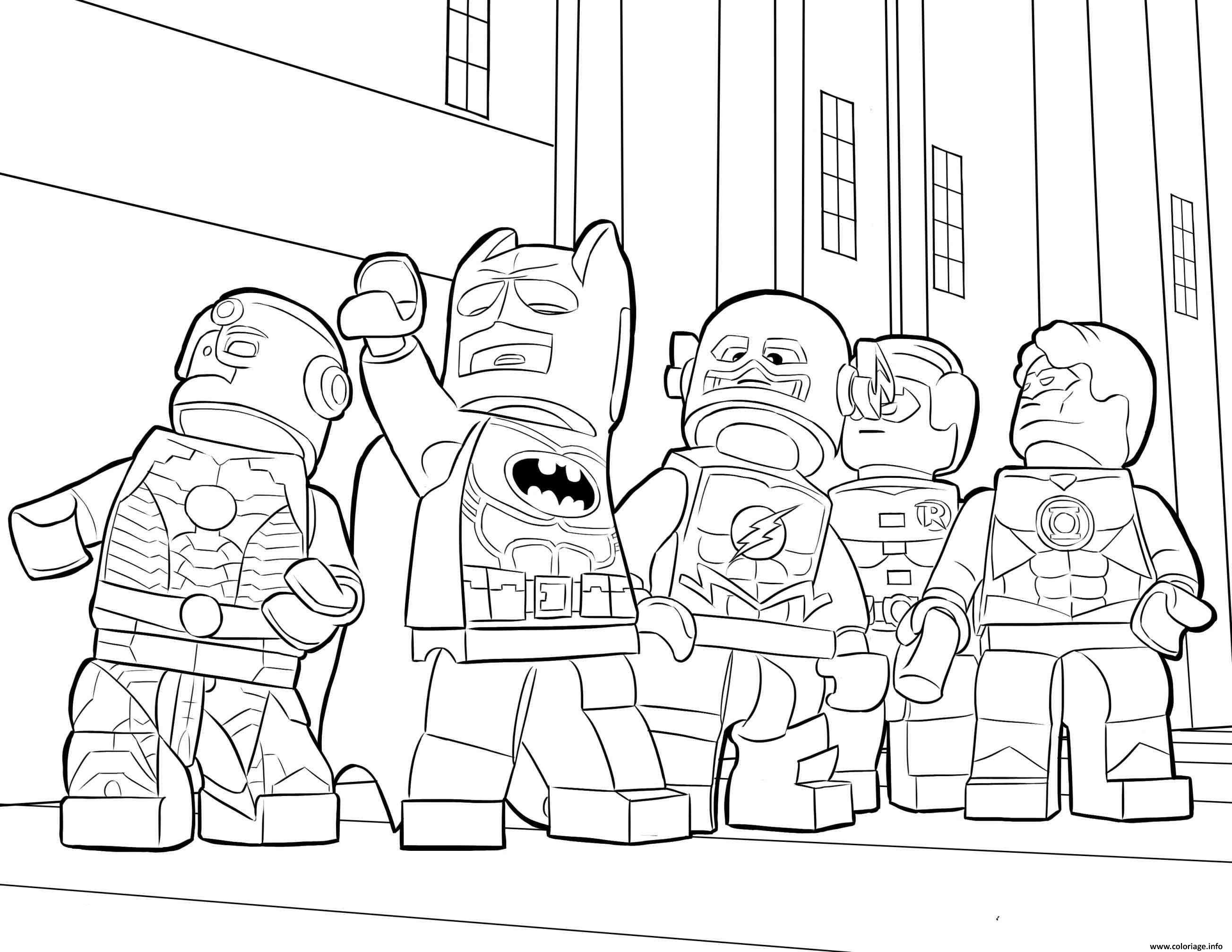 Coloriage Flash Lego Et Super Heros Batman Ironman Dessin à Imprimer
