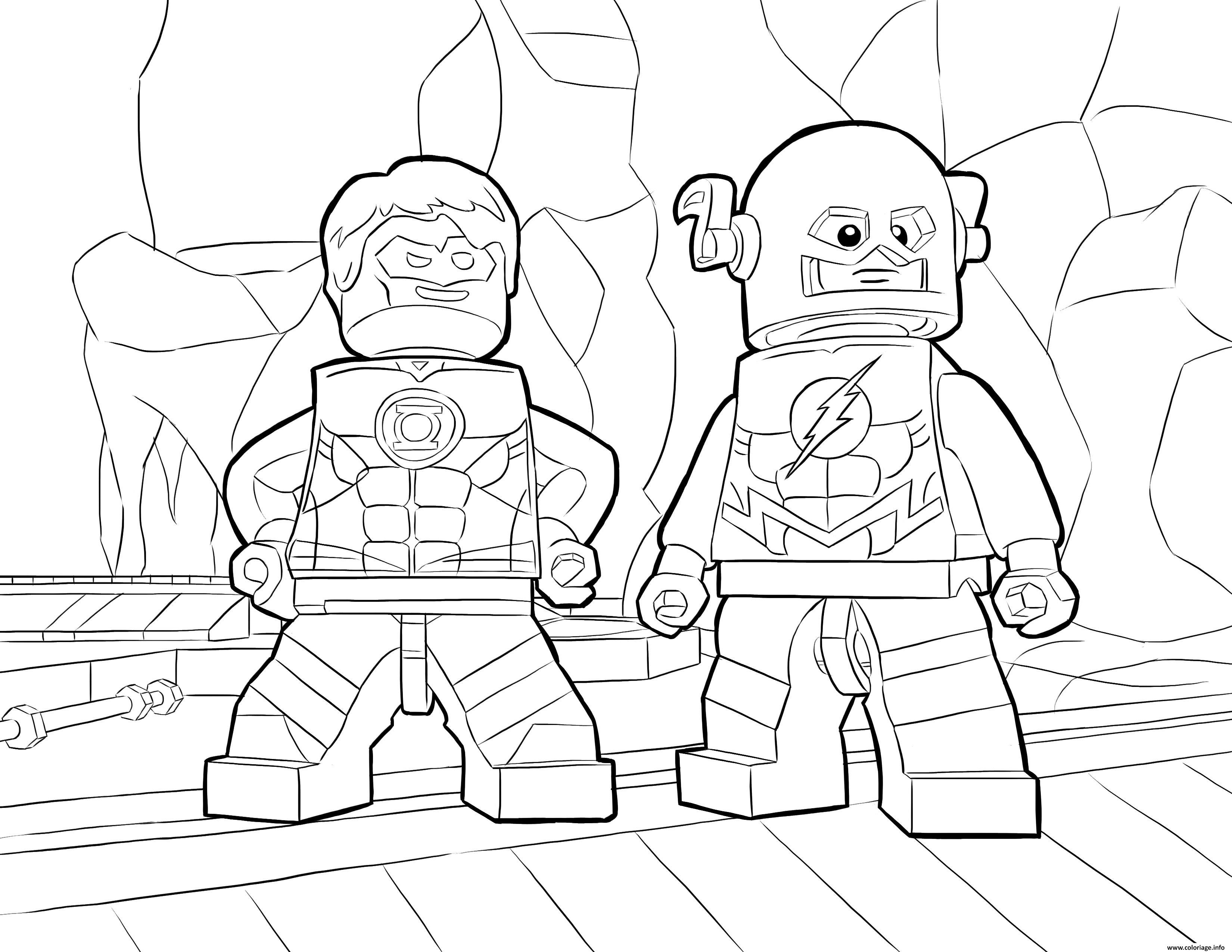Coloriage Flash Super Heros Lego Jecolorie Com
