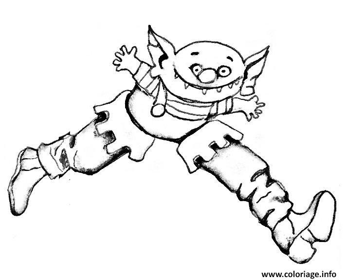 Coloriage Ogre Avec Des Bottes Jecolorie Com
