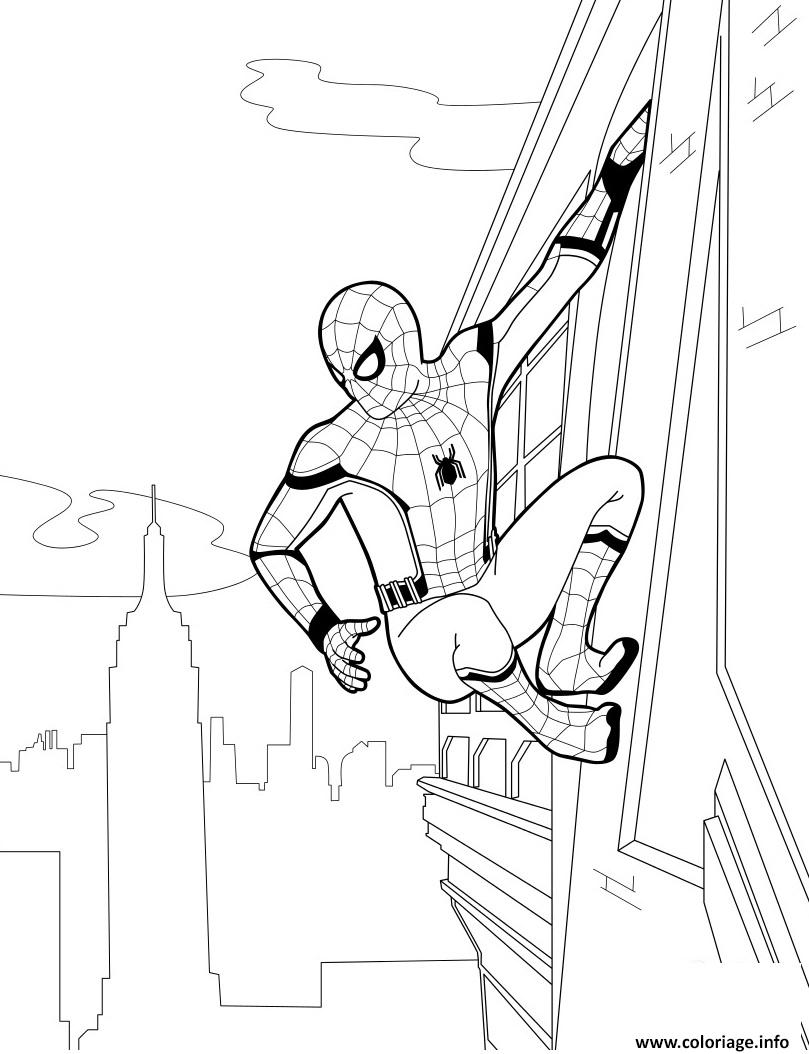 Coloriage Spider Man Homecoming Dessin à Imprimer