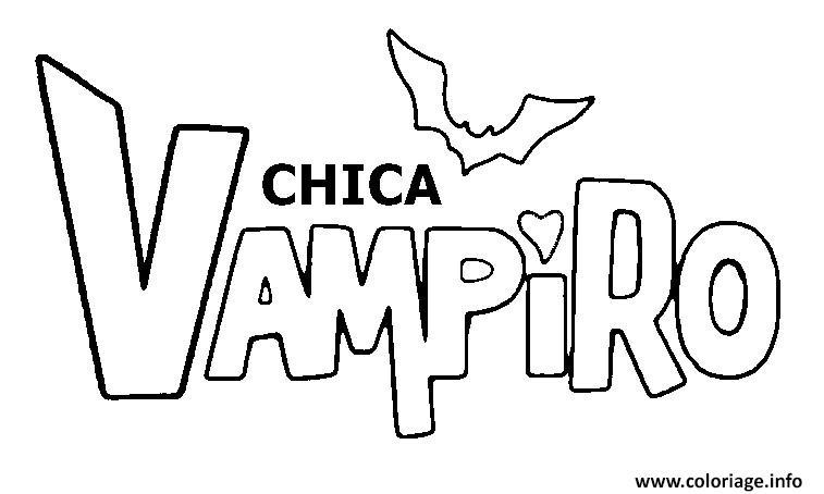 Coloriage Chica Vampiro Logo Dessin