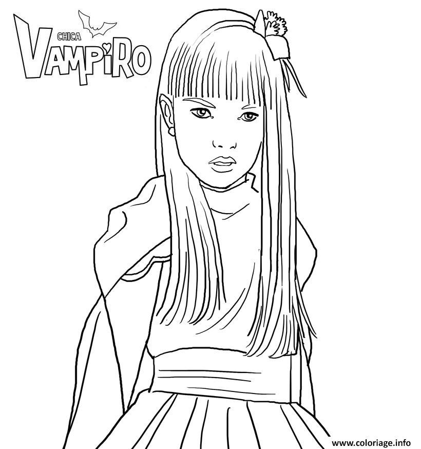 Coloriage Chica Vampiro Juliette Vladimoff Dessin