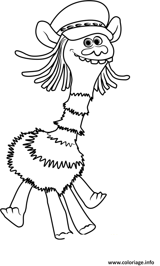 Coloriage cooper from trolls dessin - Dessin de troll ...