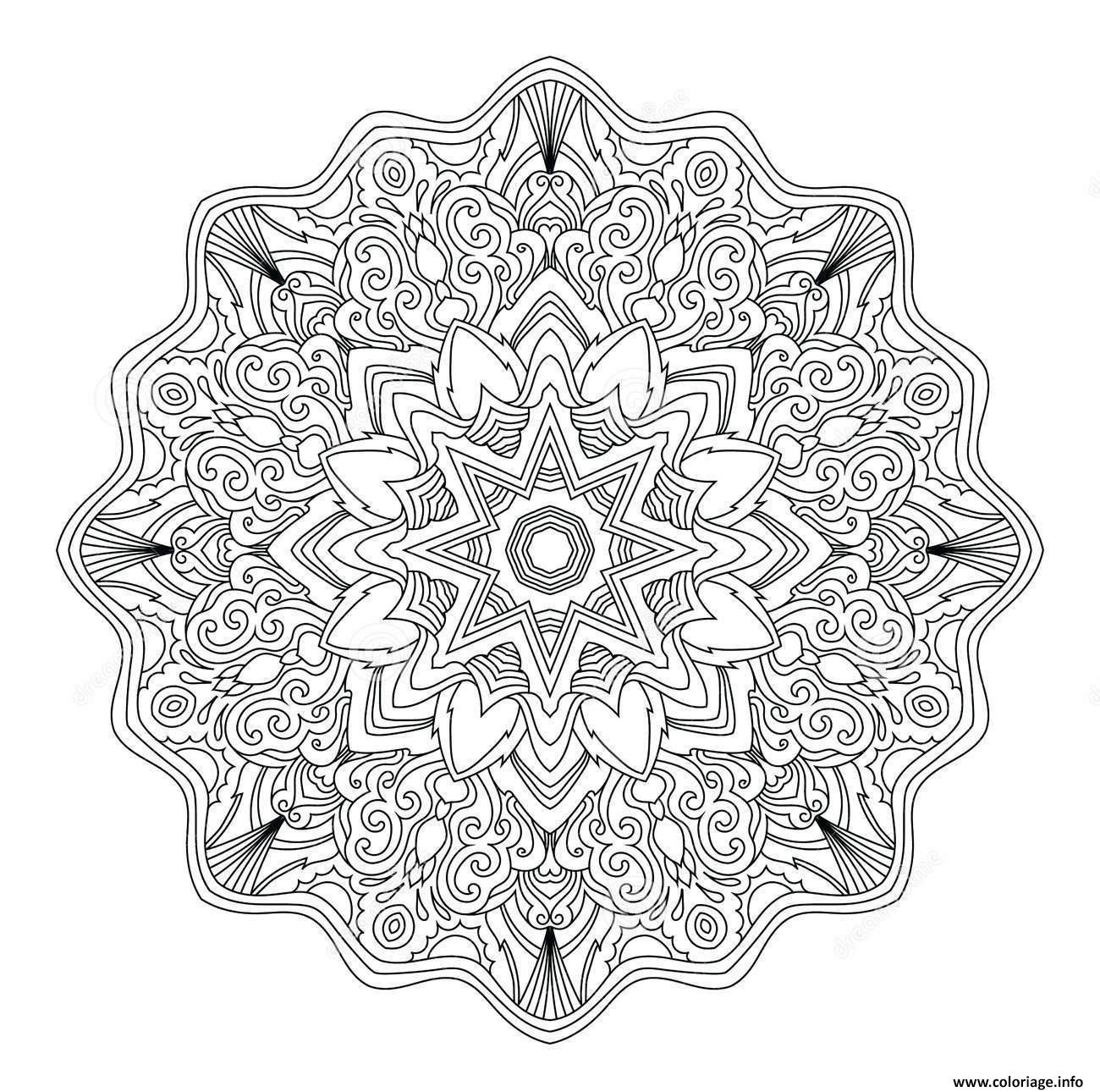 Coloriage mandala adulte abstrait art therapie dessin - Coloriage art ...