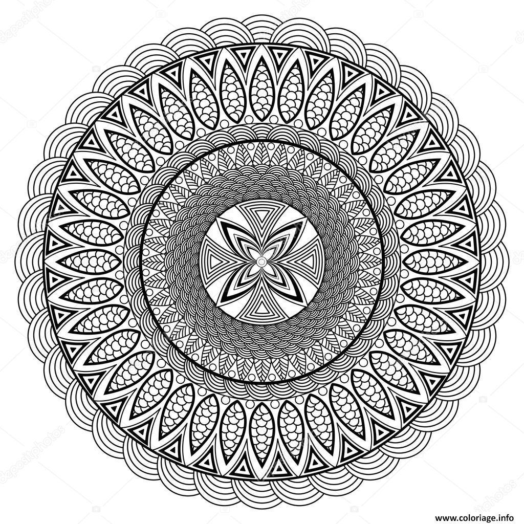 Coloriage Mandala Adulte Boho Style dessin