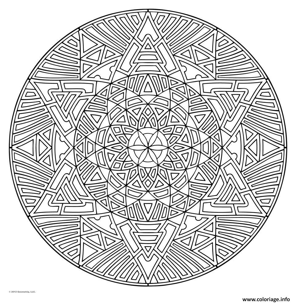Coloriage Mandala Pour Adulte Art Therapie dessin