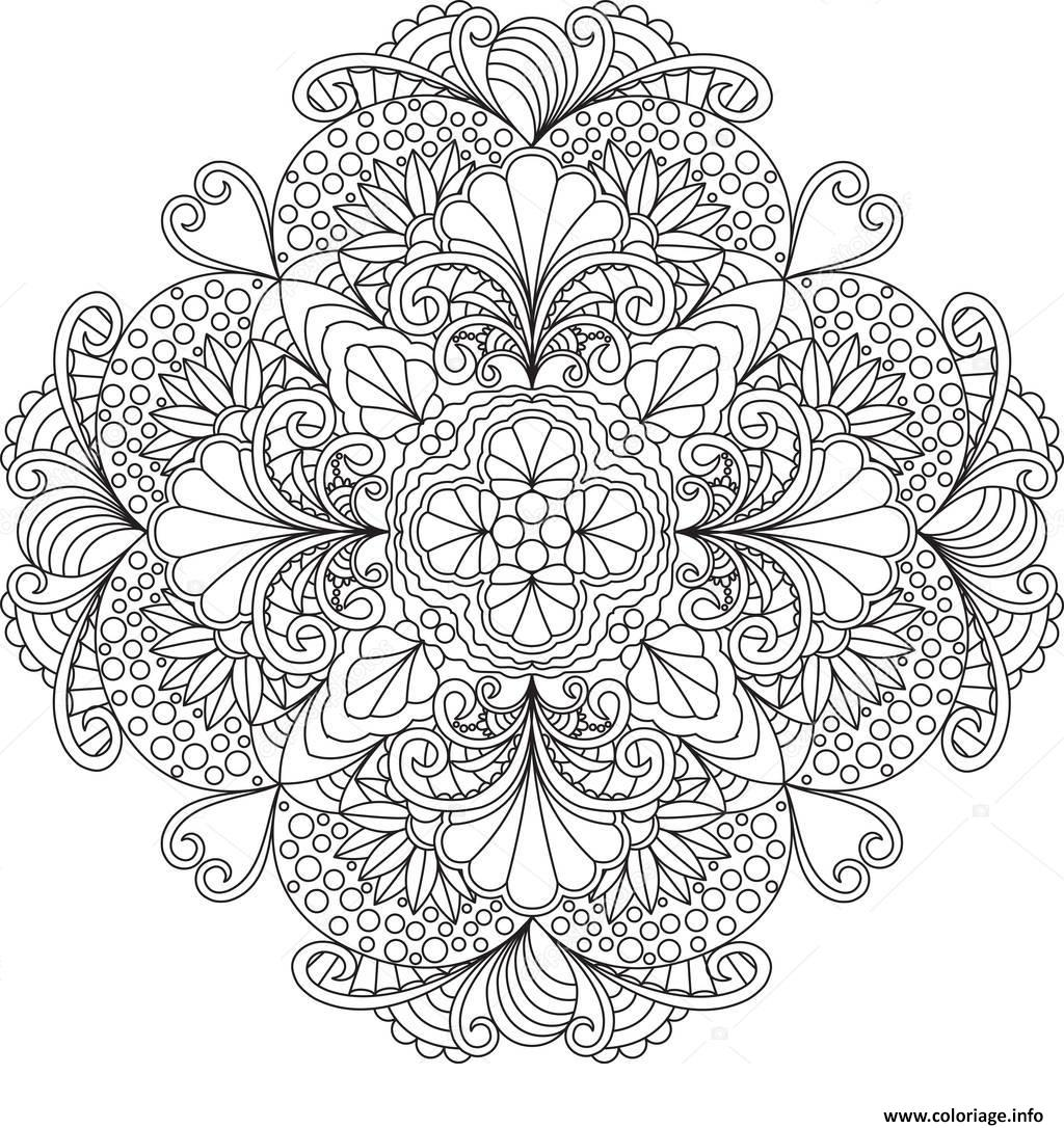 Coloriage Flowers Mandala Dessin Mandala à imprimer