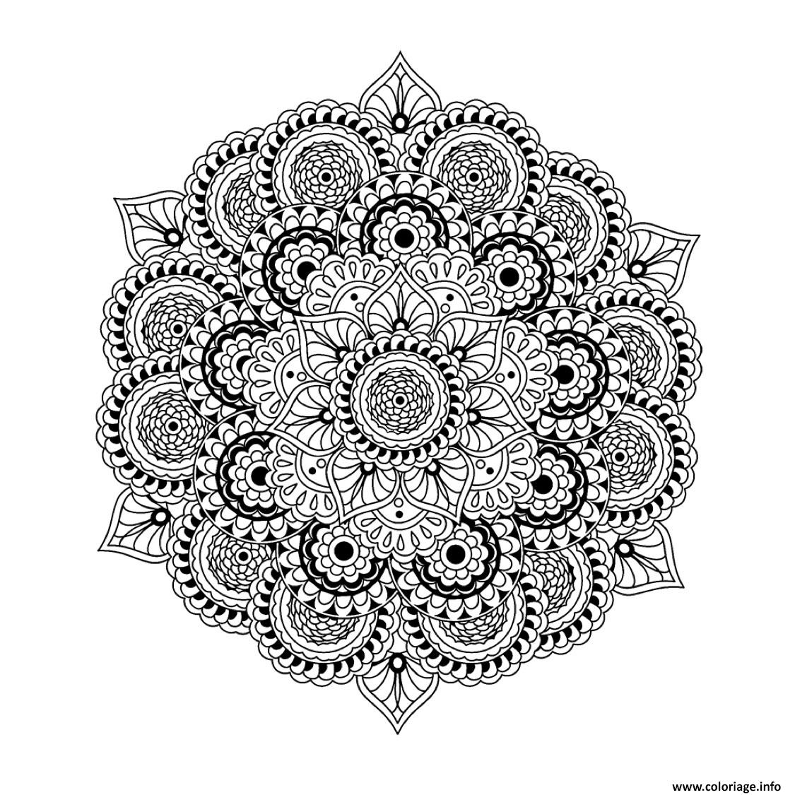 Coloriage mandala plexe difficile pour adulte art therapie