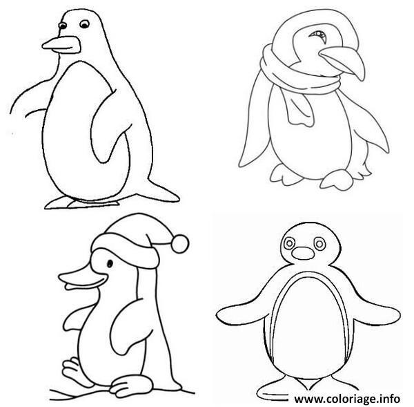 Coloriage Dessin Pingouin Banquise Dessin