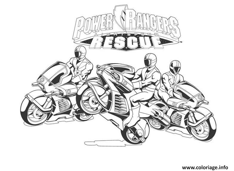 Coloriage power rangers rescue dessin - Power rangers gratuit ...