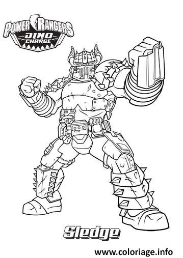 Coloriage power rangers dino charge sledge dessin - Dessin power rangers ...