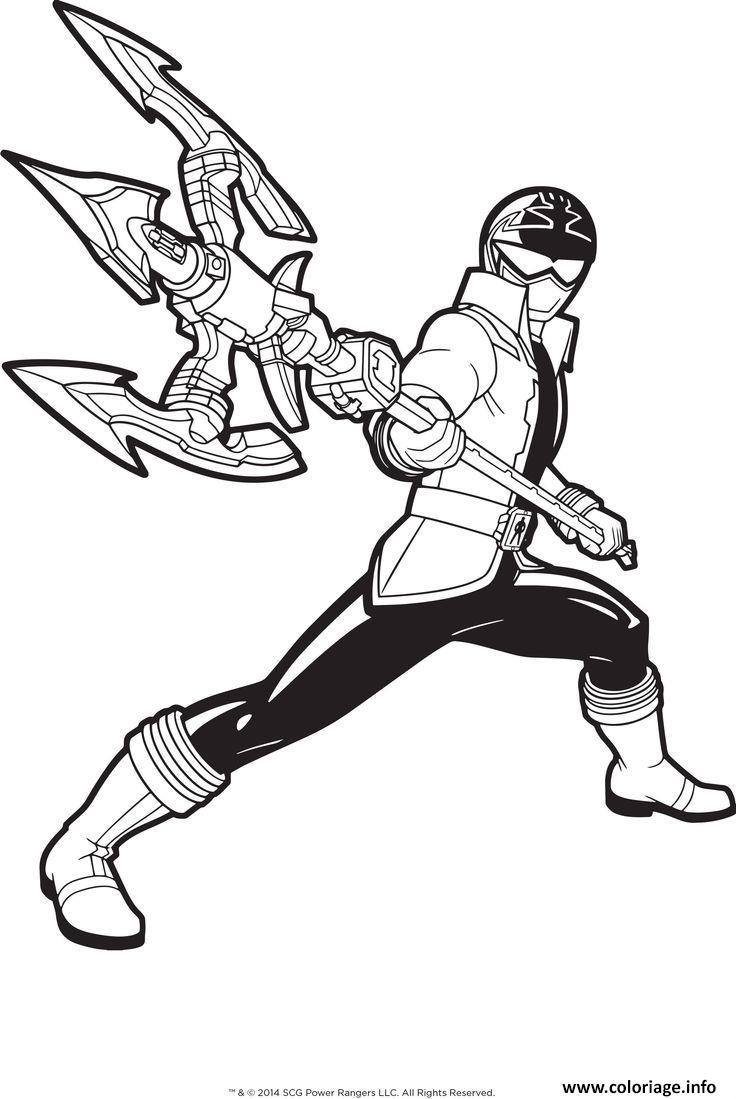 power rangers megaforce coloriage dessin