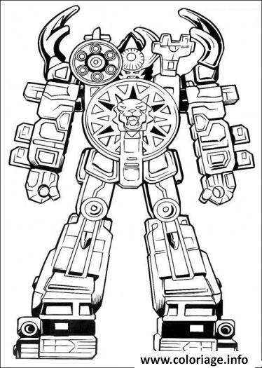 Coloriage Power Ranger Robot Jecolorie Com