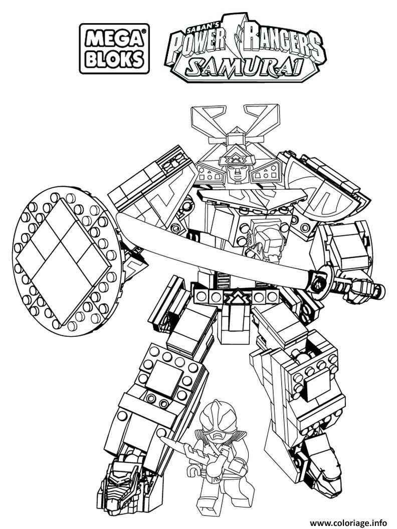 Coloriage Power Rangers Samurai Mega Bloks Jecolorie Com