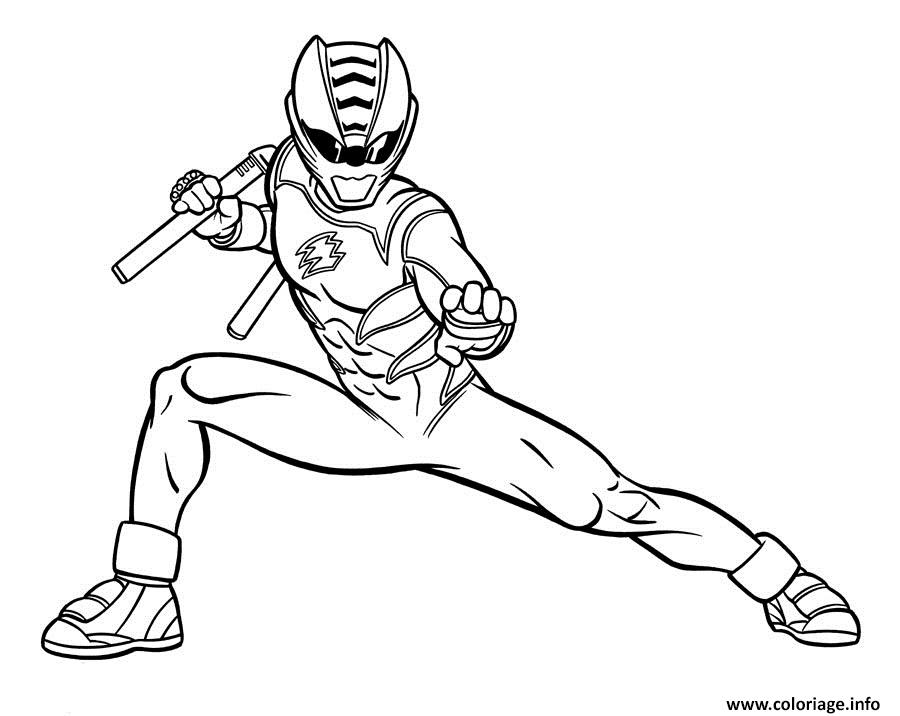 Coloriage Power Rangers Jungle Fury Dessin