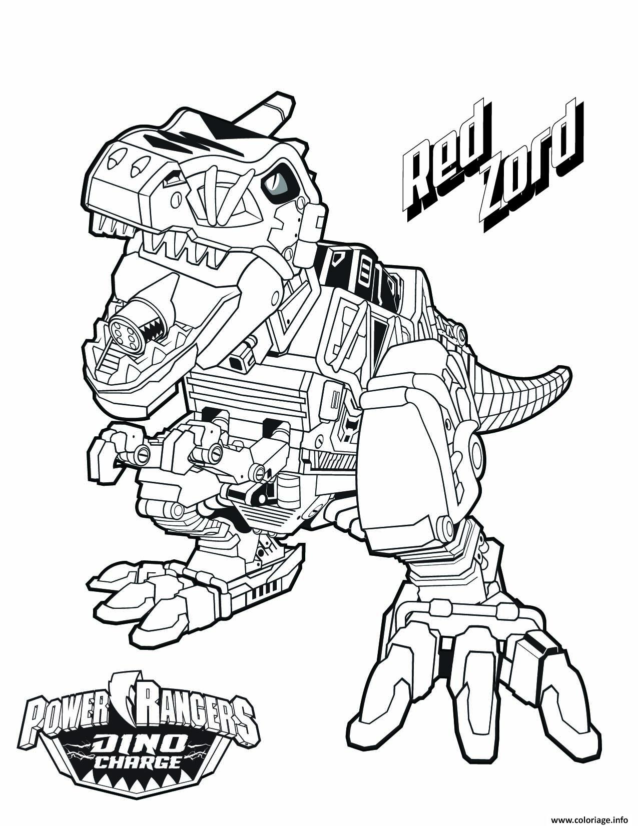 Coloriage power rangers dino charge red zord dessin - Power rangers samurai dessin ...