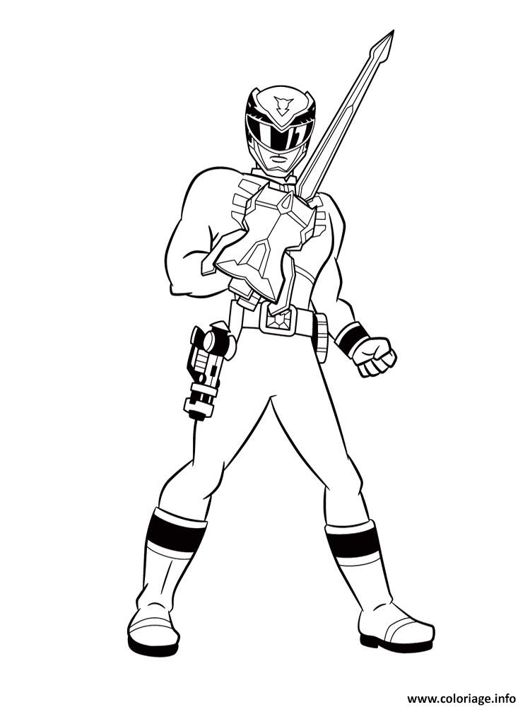 Coloriage Power Rangers Jungle Fury Avec Une Arme Jecolorie Com