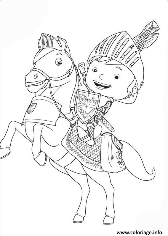 Dessin chevalier enfant Coloriage Gratuit à Imprimer
