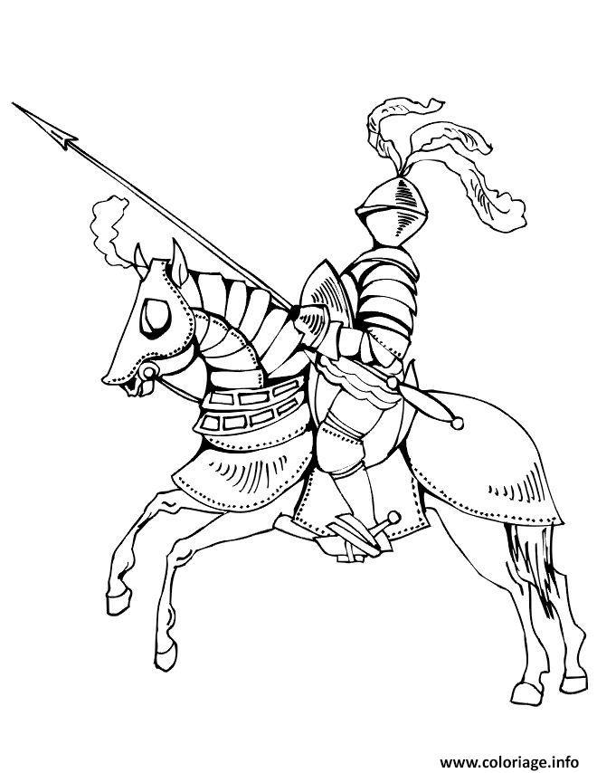 Dessin chevaliers hd Coloriage Gratuit à Imprimer