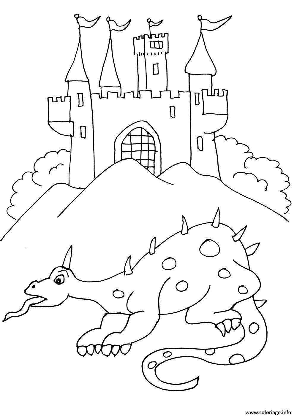 Coloriage Chateau De Chevalier 8 Jecolorie Com