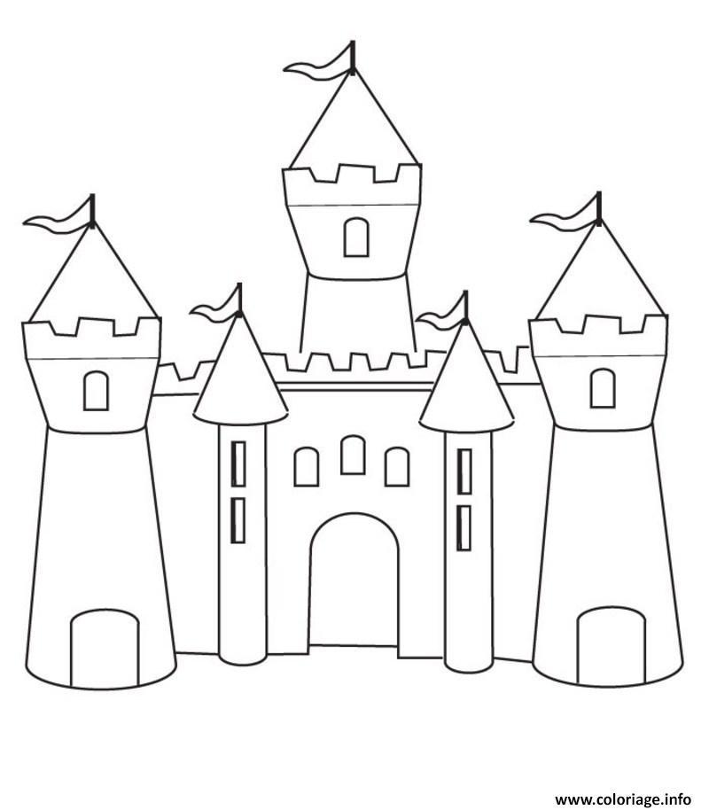 Dessin Chateau Disney A Imprimer