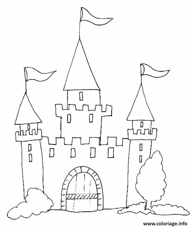 coloriage chateau fort maternelle enfant. Black Bedroom Furniture Sets. Home Design Ideas