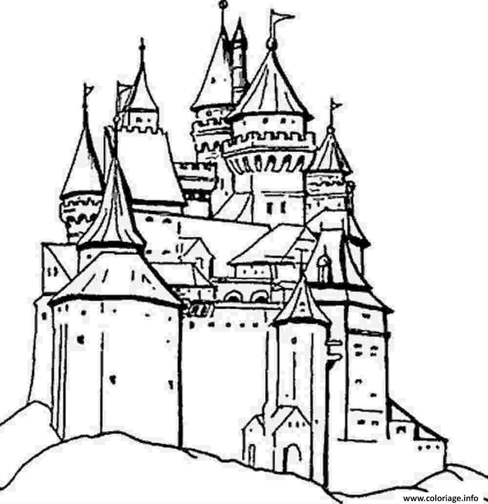 Coloriage Chateau Princesse Sofia.Coloriage Chateau Princesse Colorier Les Enfants