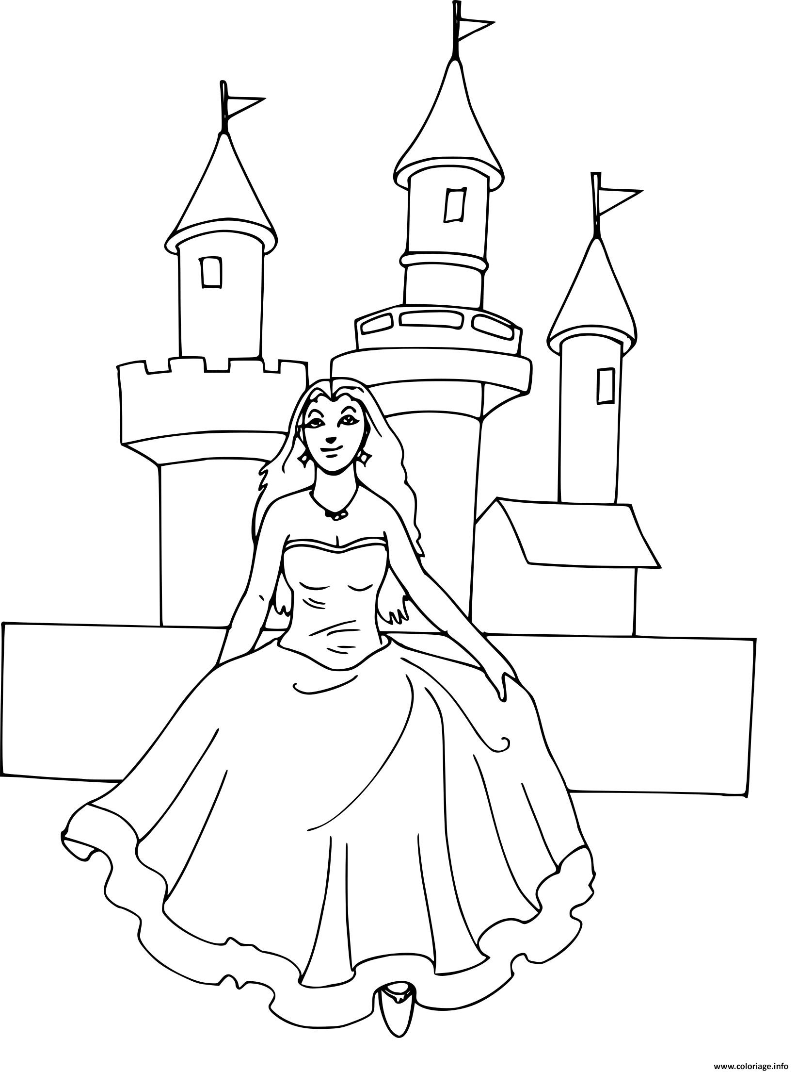chateau princesse disney coloriage