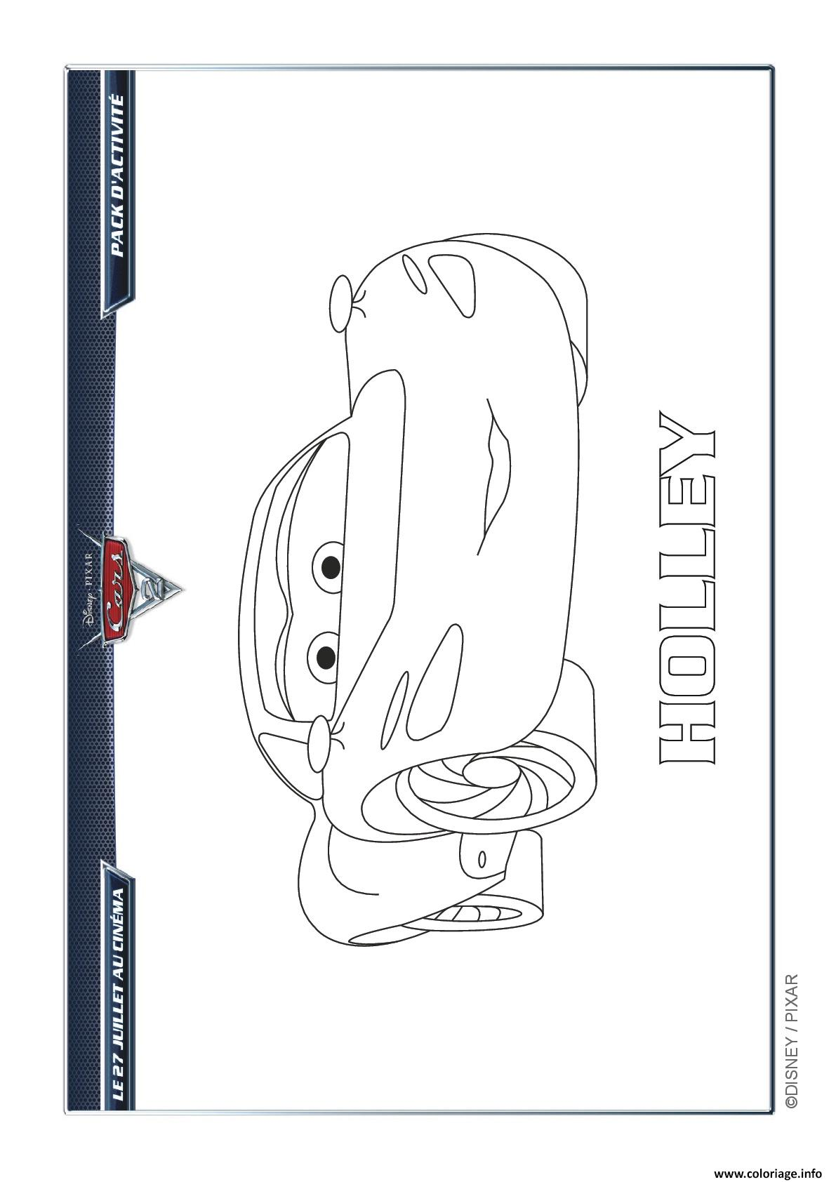 Coloriage Holley L Apprentie Espionne Cars Disney dessin