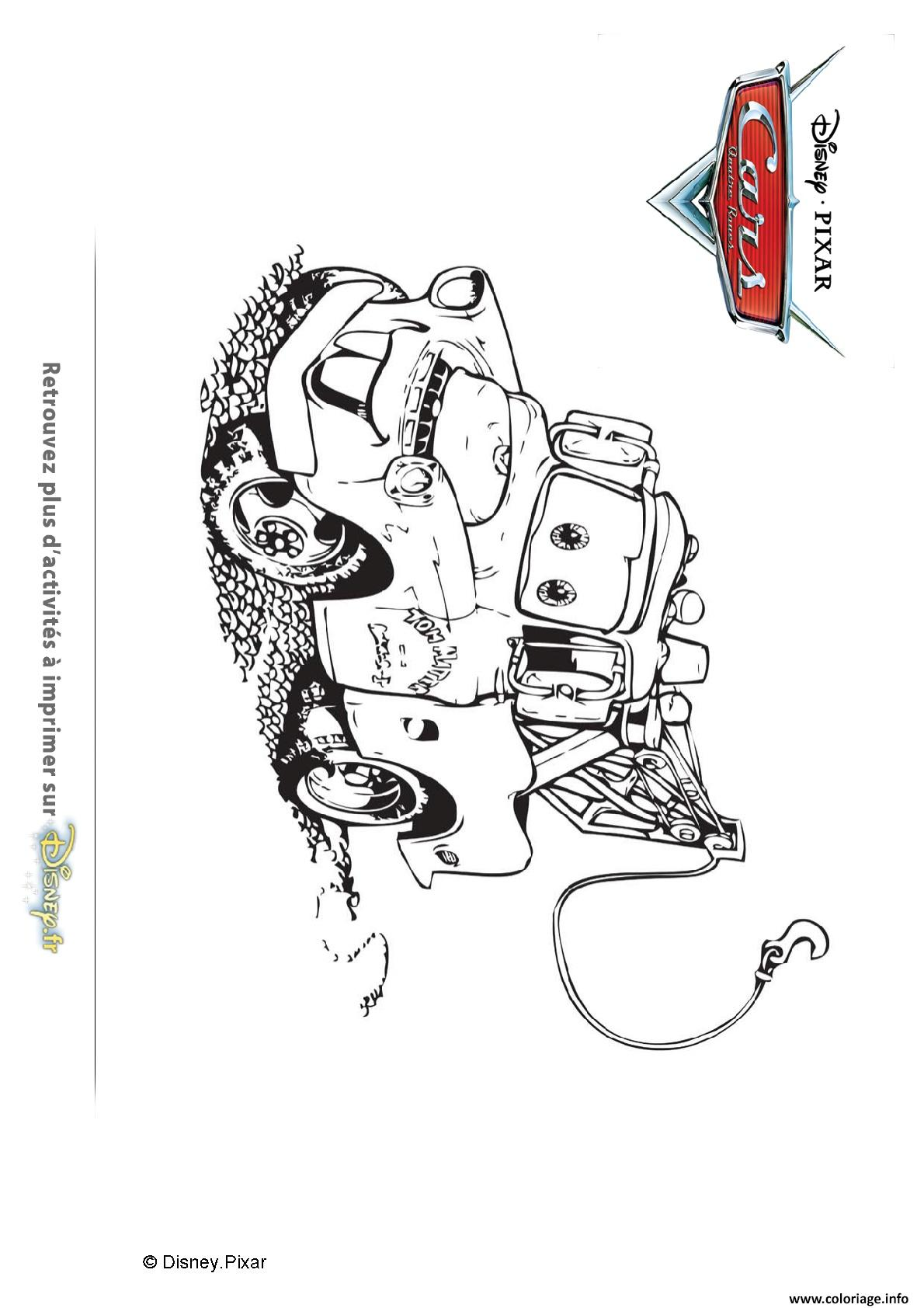 Coloriage Flash Macuine Gratuit.Coloriage Martin La D Panneuse Cars Disney Dessin
