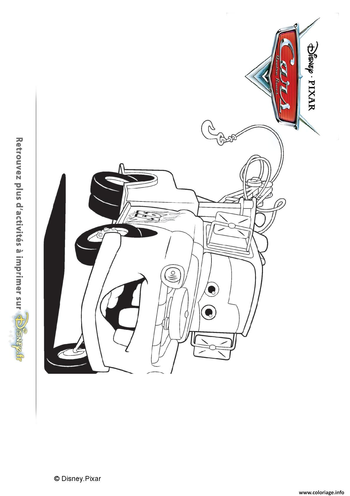 Coloriage martin fidele depanneuse rouillee cars disney dessin - Depanneuse cars ...
