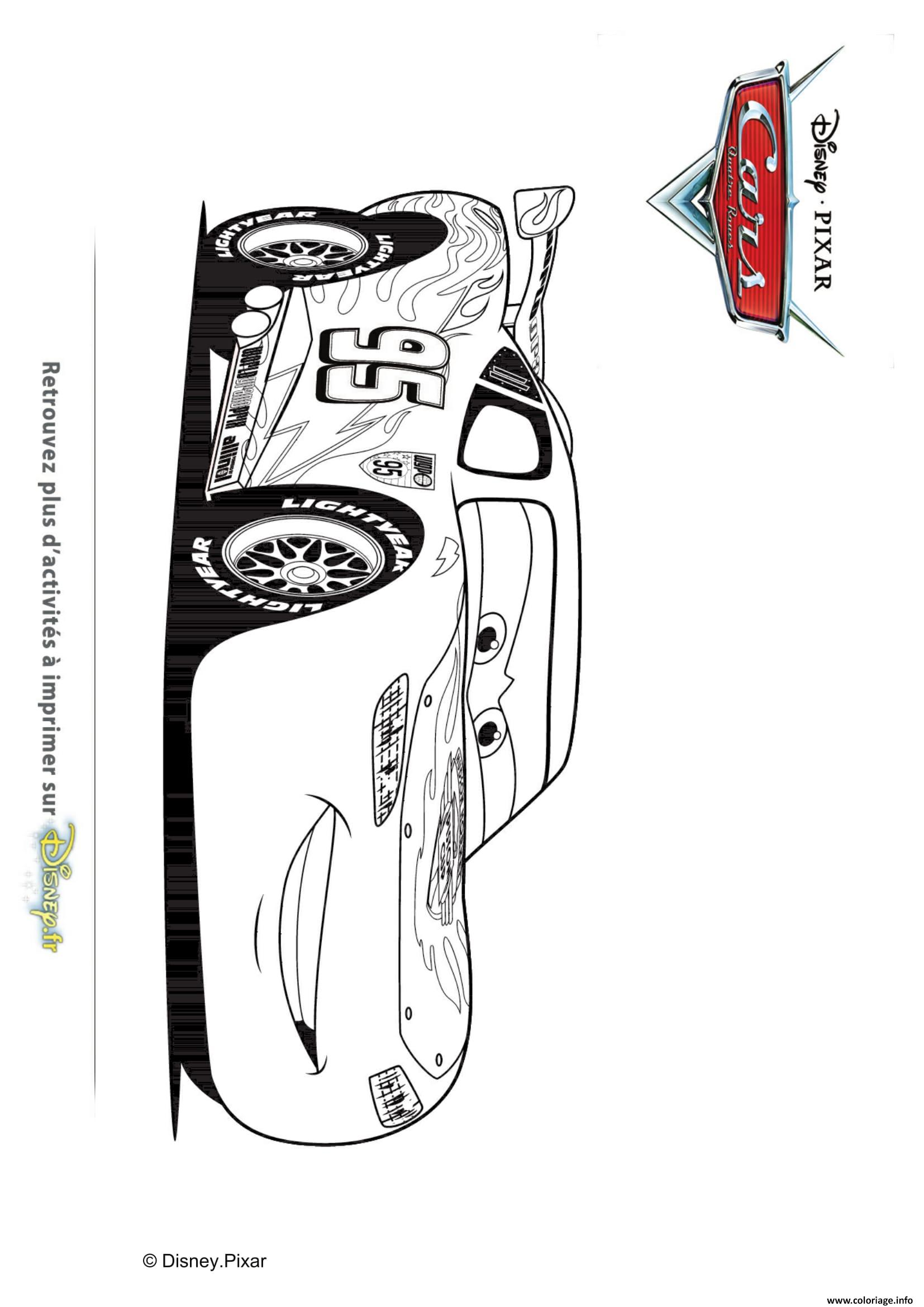 Beau Dessin A Imprimer De Cars 3
