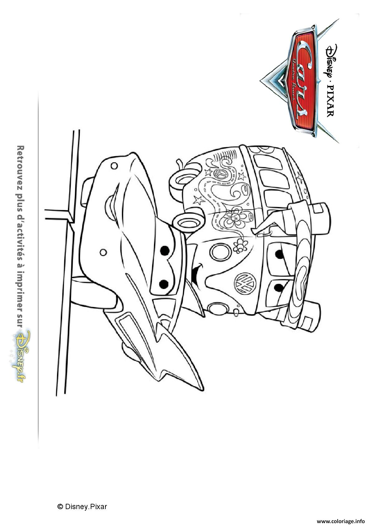 Coloriage Cars Flo.Coloriage Flo Et Fillmore Cars Disney Jecolorie Com