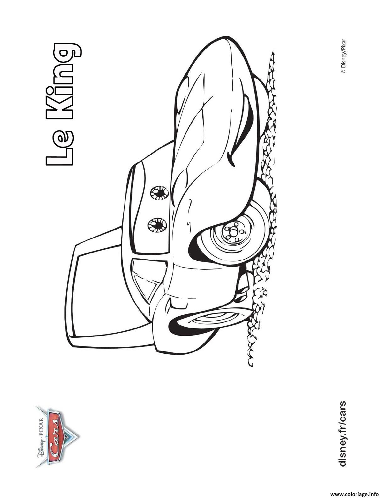 Coloriage Cars Le King.Coloriage Le King Detient 7 Titres Champion De Piston Cup Cars