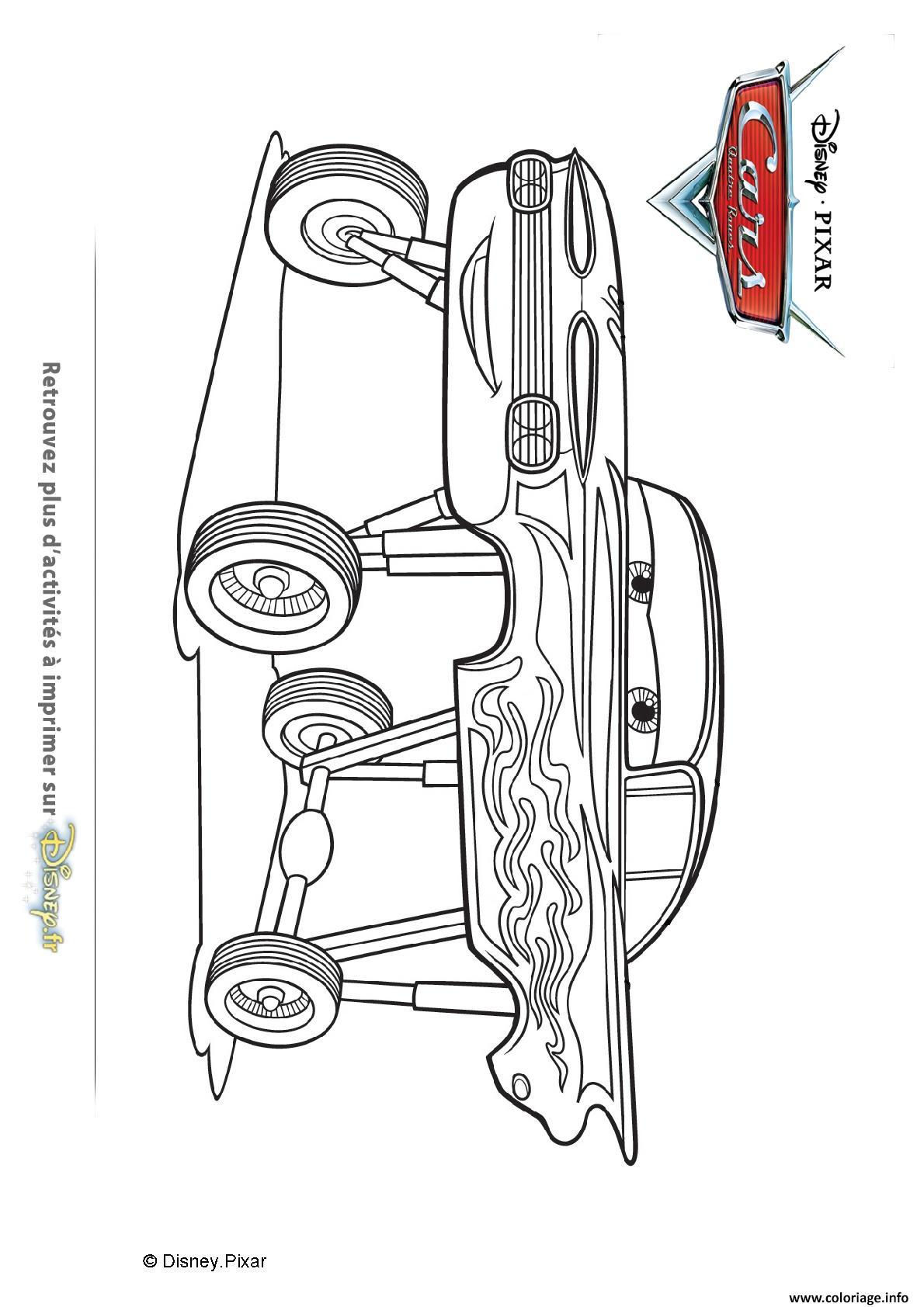 Coloriage Flash Macuine Gratuit.Coloriage Ramone Et Ses Roues Cars Disney Jecolorie Com