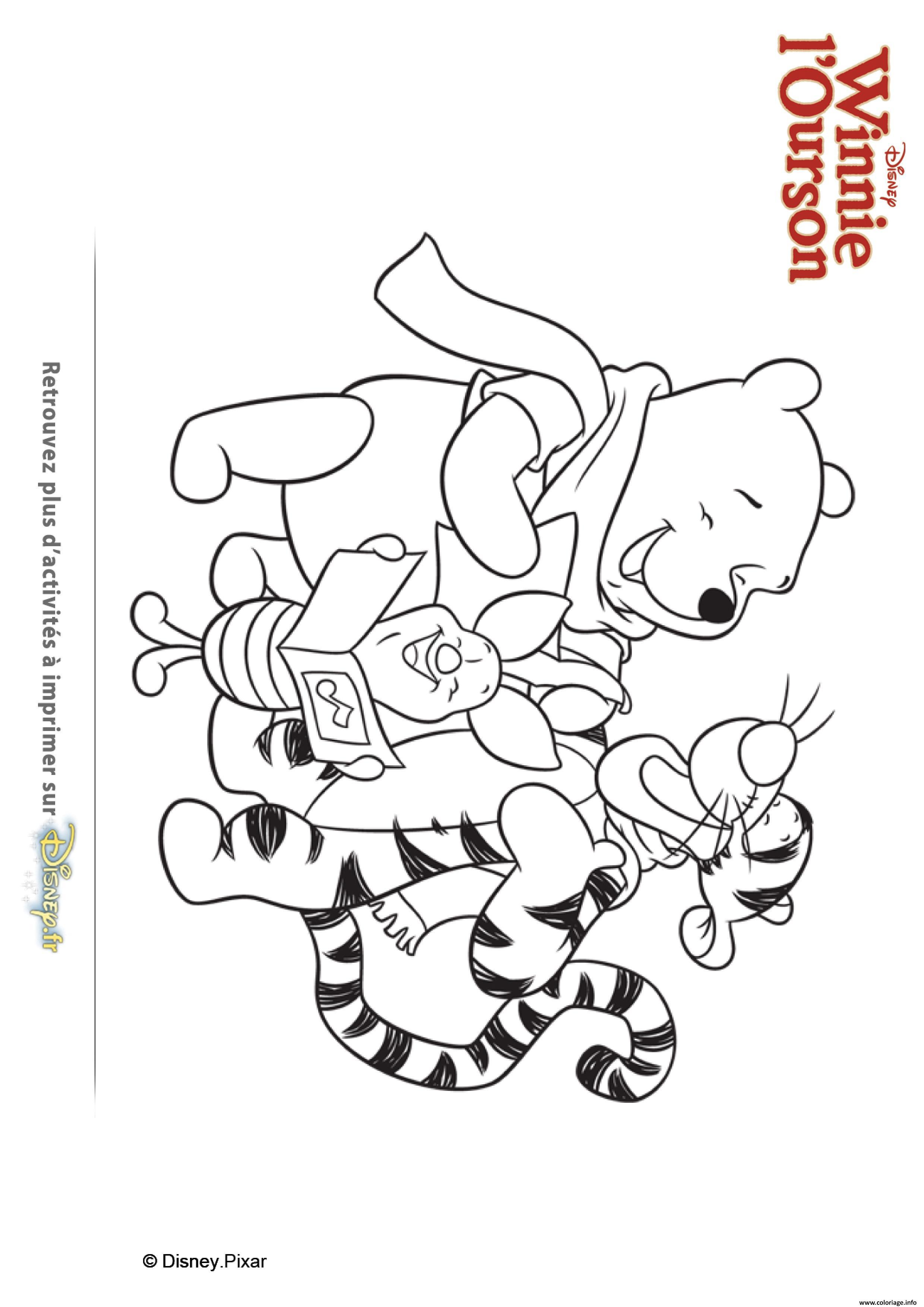 Coloriage Les Chants De Noel De Winnie Ourson Et Ses Amis