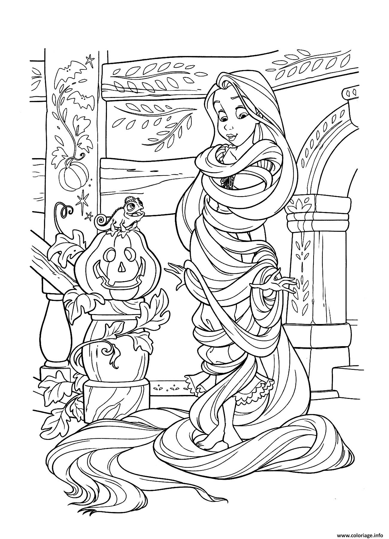 Coloriage halloween disney princesse raiponce dessin - Coloriage disney ...