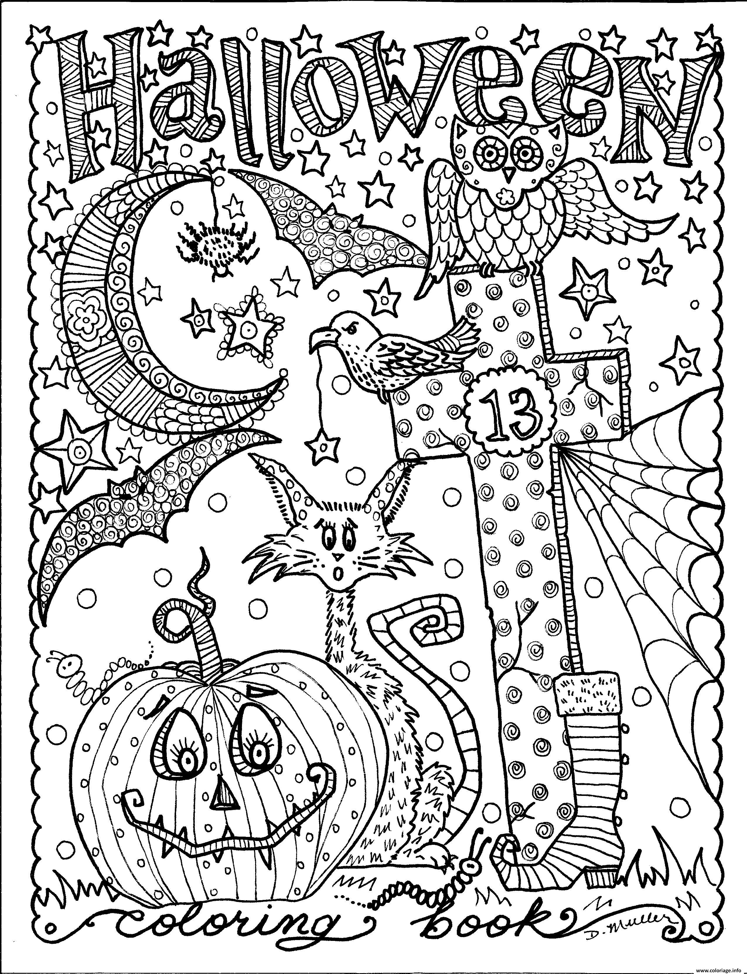 coloriage adulte halloween