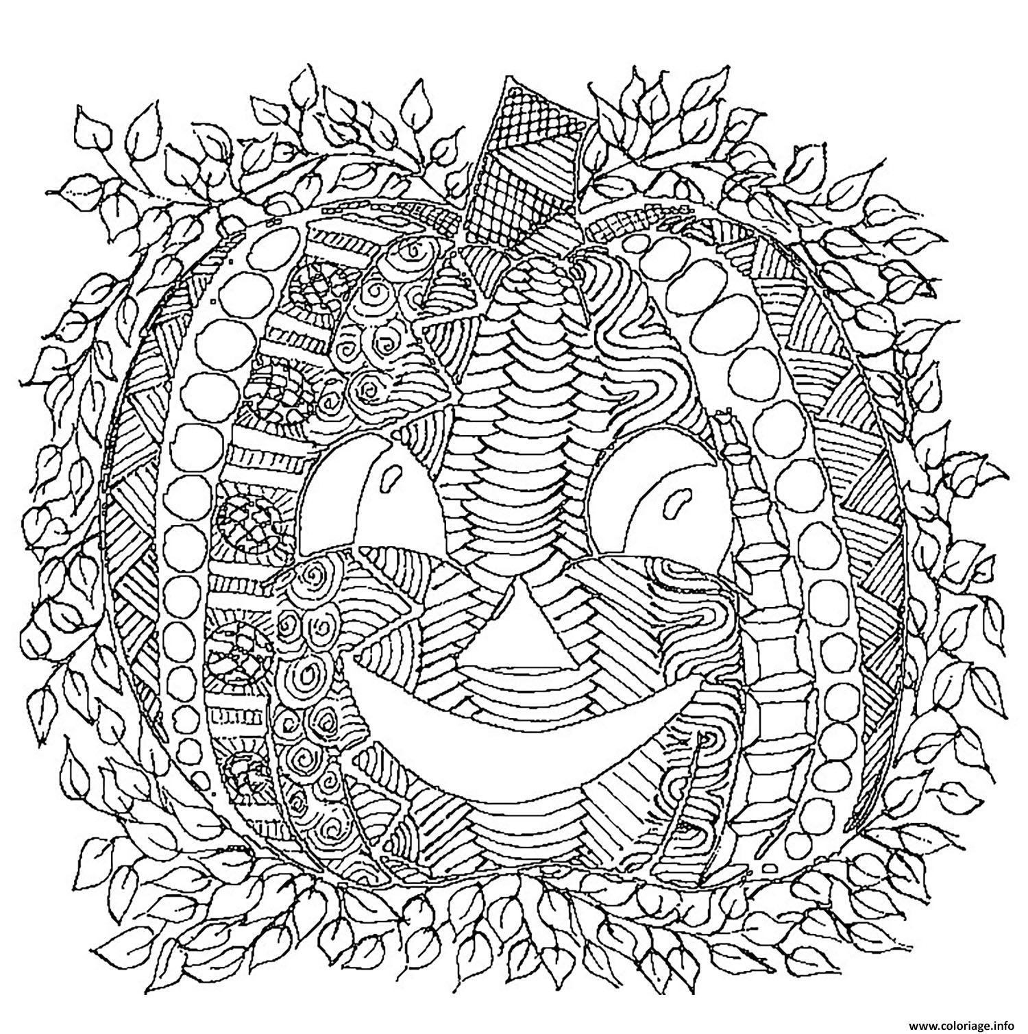 Coloriage Adulte Halloween Citrouille Dessin dessin
