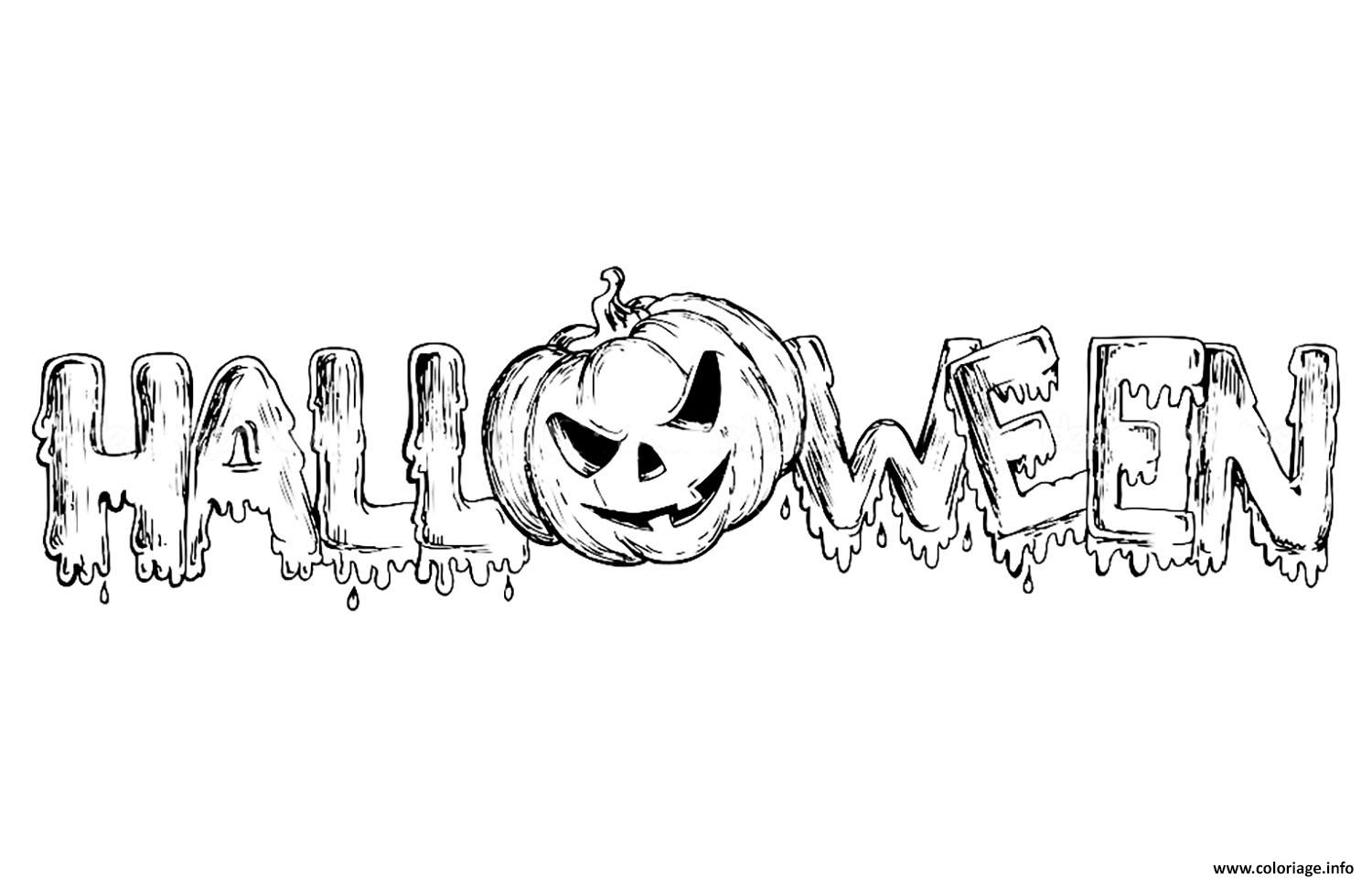Coloriage halloween texte 2017 dessin - Coloriages d halloween ...