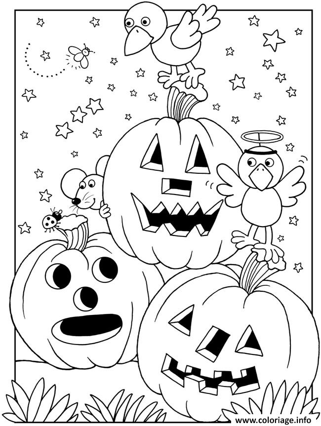 coloriage halloween maternelle facile citrouilles. Black Bedroom Furniture Sets. Home Design Ideas