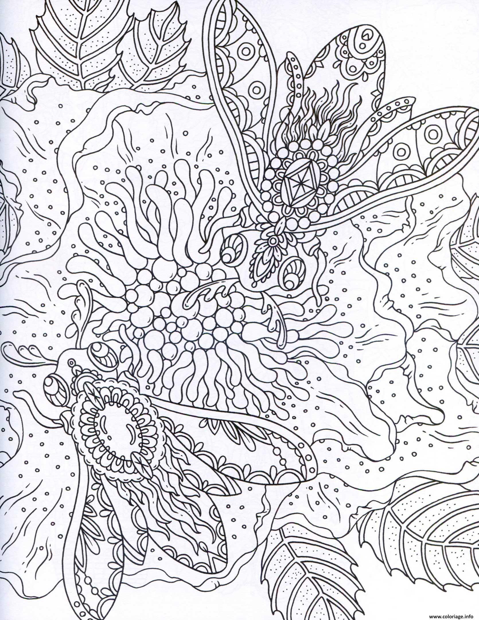 Coloriage Adulte Ocean dessin