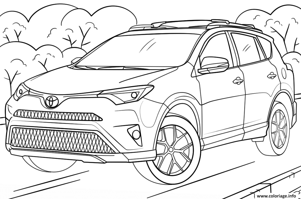 coloriage voiture toyota rav4. Black Bedroom Furniture Sets. Home Design Ideas