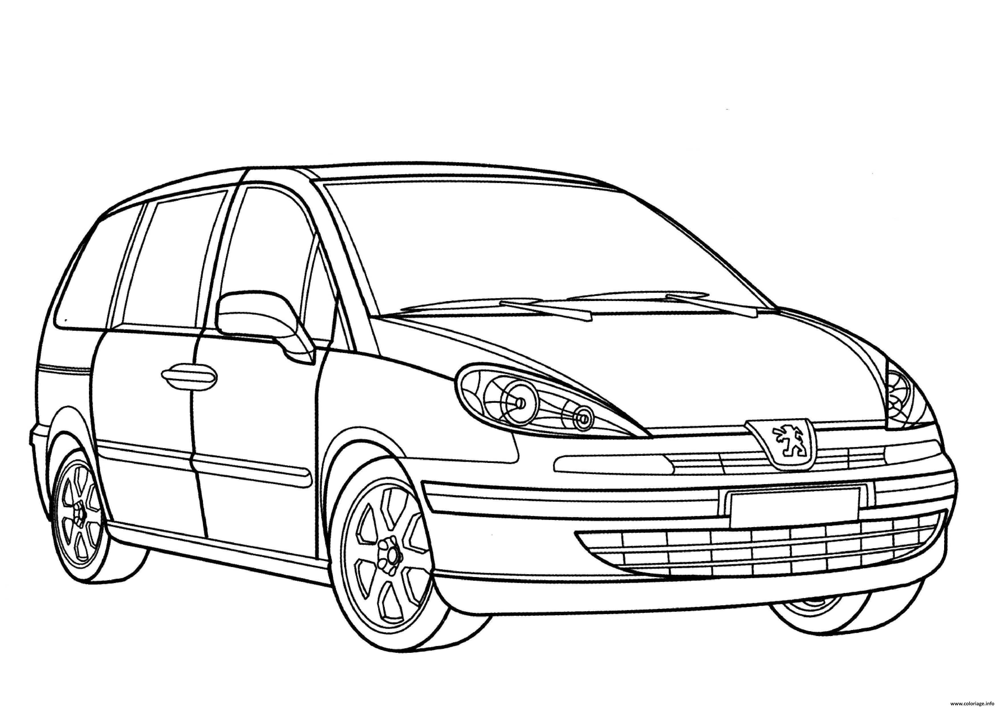 Coloriage Adulte Voiture.Coloriage Voiture Peugeot 807 Dessin
